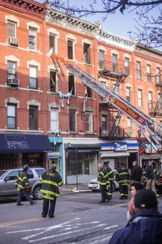 cow drip building fire on seventh avenue in park slope